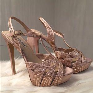 Steve Madden Ally Rose Gold 4 inch heels